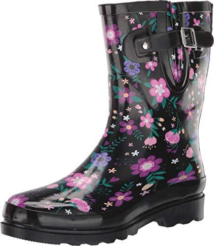 Western Chief Waterproof Mid Rain Boot Blossoming 9 M