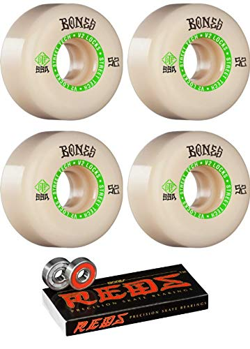 8 99a with Bones Bearings Pack Spitfire Wheels 60mm Formula Four Classic Swirl White w//Red Skateboard Wheels Bundle of 2 Items 8mm Bones Reds Precision Skate Rated Skateboard Bearings