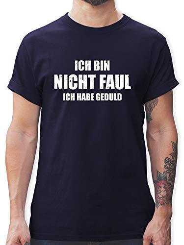 Sprüche - Ich Bin Nicht faul - XXL - Navy Blau - Mario bart Tshirt - L190 - Tshirt Herren und Männer T-Shirts