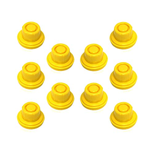 Kool Products 10 Pack Replacement Yellow Spout Cap Top for Blitz Fuel Gas CAN 900302 900092 900094 Aftermarket (Spout not Included)