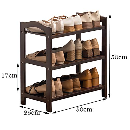 WSNBB Schuhablage, 3 Schichten Bambus-Schuhablage, Reines Bambuslaminat, Gesund Und Umweltfreundlich (größe : 50 cm)