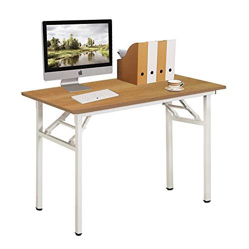 Need Schreibtisch Klapptisch Holzwerkstoffen Computertisch PC Tisch Bürotisch Arbeitstisch Esstisch für Zuhause, Büro, Picknick, Garten 100 * 60 cm,AC5BW-100