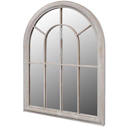 vidaXL Rustikaler Gartenspiegel Bogen Spiegel 69×89 cm für Indoor und Outdoor