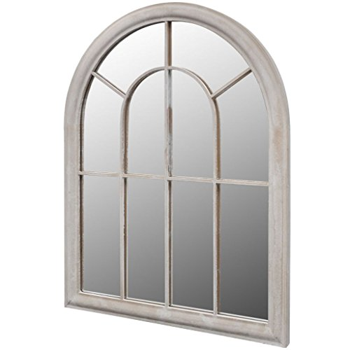 vidaXL Fensterspiegel 89x69cm Wandspiegel Gartenspiegel Dekospiegel Spiegel
