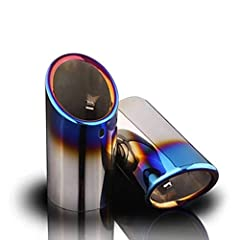 The automobile exhaust pipe cover is made of stainless steel, which is not easy to break, rust-proof, and corrosion-resistant. It uses high-gloss mirror technology, the appearance is more atmospheric. The silencer design reduces back pressure while a...
