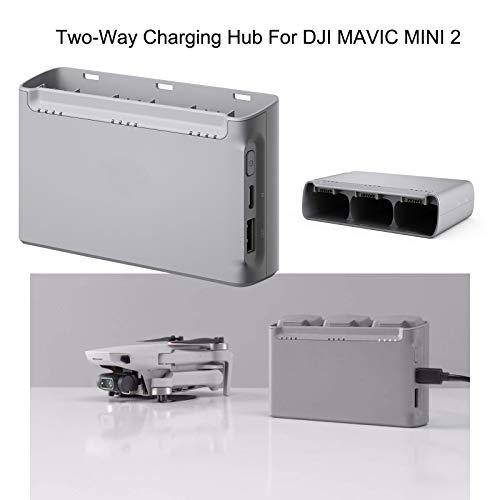 DJFEI Zwei-Wege Ladestation für DJI Mavic Mini 2 Batterie