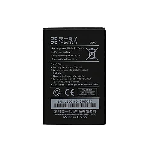 [TY BETTERY] Bateria Compatible con 2600/5030/ 3702 WIKO Sunny 3 / Sunny 2 Plus - Sunny 3 / Jimmy/Rainbow - Lenny/Lenny 2 / Lenny 3 / Jerry