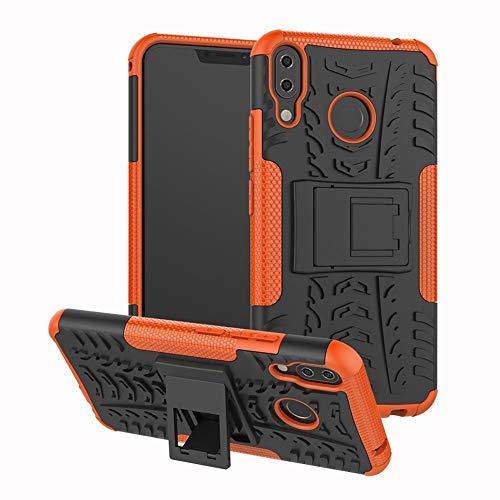 Sangrl Handyhülle Für Asus Zenfone 5 ZE620KL, [2 in 1] Robuste Rüstung Dual Layer Schutzhülle Stoßfeste Anti-Scratch Hülle Hülle Für Asus Zenfone 5z ZS620KL - Orange