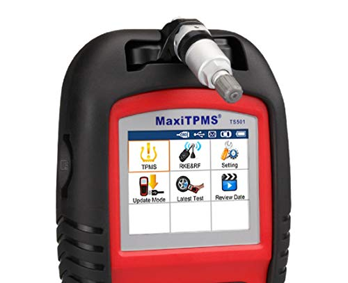 Autel MaxiTPMS TS501 TPMS Relearn Tool Automotive Scan Tool with Activate TPMS Sensors/TPMS Sensor Programming/Program… 8 【Upgraded Version of TS408, 2021 Newest】TS501 TPMS Tool can diagnose newest models up to 2020 with frequent updates. It packed ALL TPMS service options: TPMS programming(MX-Sensors), sensors Relearn/Activation, TPMS Reset and TPMS health diagnose, read sensor data, key fob frequency test. Please send VIN to : ❤Autelonline @outlook.com❤ CHECK COMPATIBILITY. 【TPMS Programming】 TS501 TPMS Programming Tool enables all car enthusiasts to program sensor data to Autel MX-Sensors with ease, saving you the money and trip to a dealership. With TS501, you can program AUTEL MX-Sensor (315/433MHz) with 4 programming options: Copy By Activation, Copy By Manual Input, Auto Create and Copy by OBD( Not available with TS408) to replace the faulty sensor with low battery life or one that is not functioning well. 【Relearn All TPMS Sensors】TS501 has added Relearn by OBD comparing with TS408. To turn off the TPMS warning light after replacement, you need to relearn the sensors to the vehicle! Autel TS501 TPMS Relearn Tool provides 3 ways of on-tool relearn precedures to relearn both OE and aftermarket sensors: Stationary Relearn, Automatic Relearn & OBD Relearn.