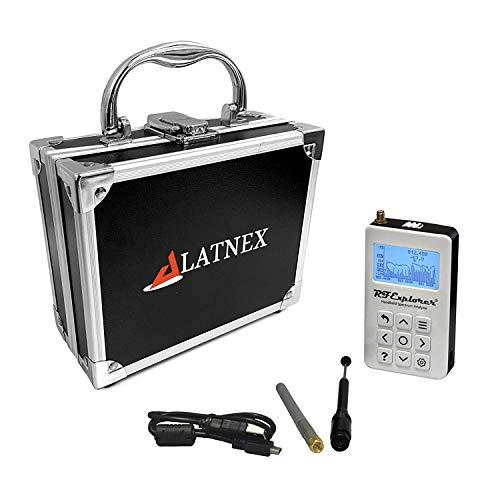 LATNEX Analizador de espectro RF Explorer WSUB1G Plus Slim con funda de transporte de aluminio