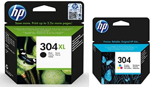 HP N9K08AE, N9K05AE - Cartucce originali HP 304 nero XL e tricolore per 2620 2622 2630 2632 2633 2634 3720 3730 3733 3735 3750 3760 3762 3764 5010 5020 5030 5032 AMP 130