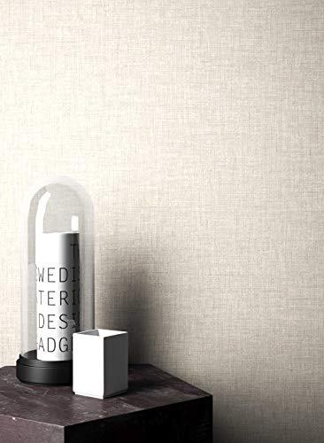 NEWROOM Landhaus Tapete beige Papiertapete Papier moderne Design Optik Tapete Einfarbig Unifarben inkl. Tapezier RatgeberNEWROOM Land