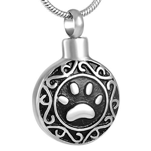 TIANZXS hábil con Grabado de la Pata ataúd funerario Mascota Perro Gato Memorial Ceniza Recuerdo medallón Mantener Cenizas Venta