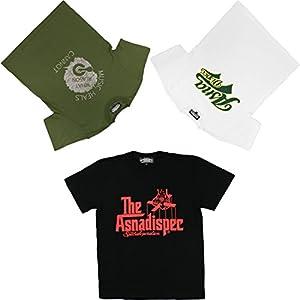 (複数ブランド)Various Brand メンズ 半袖 Tシャツ ゆったり 大きいサイズ 3枚 セット 福袋 おしゃれ トップス ティーシャツ XXL