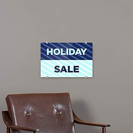 CGSignLab Stripes Blue Premium Acrylic Sign 27x18 Holiday Sale