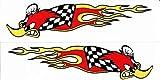 DD 2X Woody Woodpecker 20 cm x 5 cm Racing Specht Aufkleber Sticker