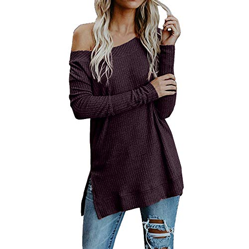 Gibobby Pullover Sweaters for Women v Neck Women's Floral Printed Casual Long Sleeve Hoodie Pullover Sweatshirts Wine