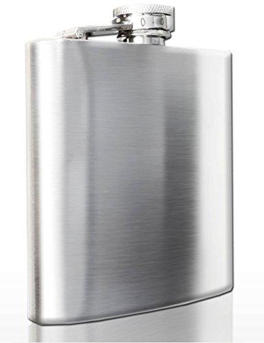 Outdoor Saxx -Fiaschetta in acciaio inox spazzolato con chiusura di sicurezza tramite tappo a vite, capacità di 170ml