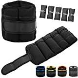 DNC Adjustable Ankle Weights 1 Pair 7 lb 10 lbs- Strength Training Wrist & Ankle Arm Wrist Leg Weight Set for Women Men- Removable Weighted Ankle Weights for Gym, Workout & Fitness