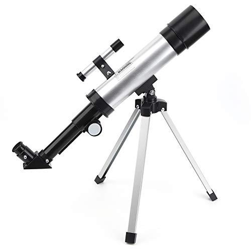 CHENGGONG Telescopios para Adultos, niños, Principiantes, Alta definición, telescopio monocular 90X, Refractor de Alcance Espacial refractivo astronómico, telescopio portátil con trípode de Aluminio