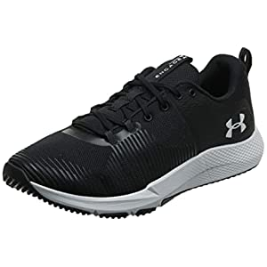 Under Armour Men's Charged Engage Cross Trainer, Black (001)/White, 10.5 M US