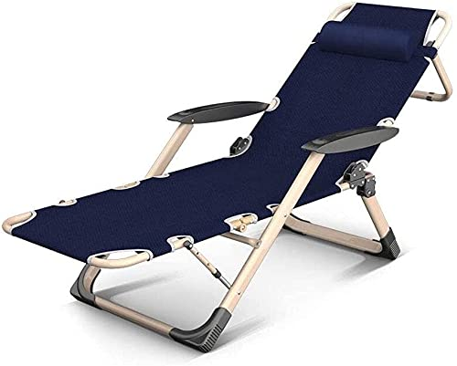 SHKUU Recliners Deck Chair Daybed Sun Lounger Foldable Reclining Adjustable Headrest Home Office Napping Patio Garden Camping,Folding Chair