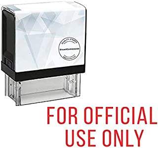 StampExpression - for Official USE ONLY Office Self Inking Rubber Stamp - Red Ink (A-5297)
