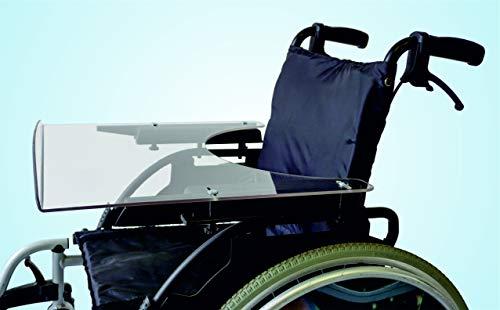 TheraMedical Rollstuhl-Therapietisch 5 mm mit Vorderkante (38-43 cm, gr. Bauchausschnitt)