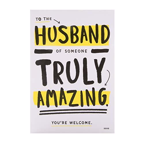 Verjaardagskaart voor echtgenoot van keurmerk - Hedendaagse Humor Design