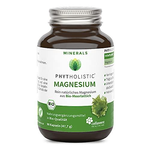 Bio Magnesium-Kapseln – aus Meerlattich – 337mg rein pflanzliches Magnesium – ohne künstliche Zusätze – 90 Kapseln