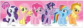 Buyartforless My Little Pony (Pink) Characters 36x12 Art Print Poster Girl Kids Wall Decor Rarity Fluttershy Pinkie Pie Twilight Sparkle Rainbow Dash Apple Dash