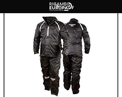 Prexport Giacca e pantalone antipioggia RAINSUIT tuta da moto impermeabile waterproof (S)