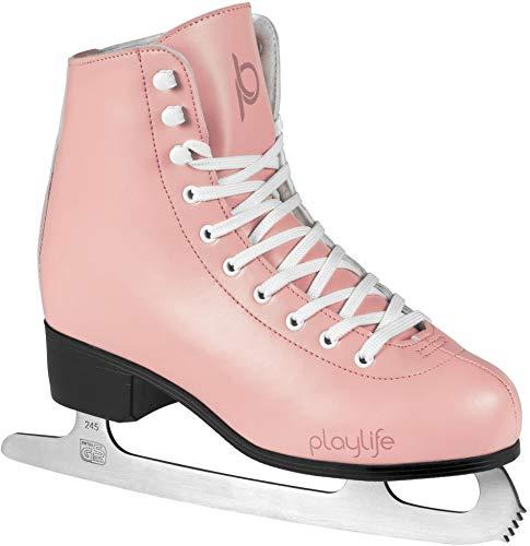 Playlife Eiskunstlauf Schlittschuhe Classic White | Knöchelpolster | Damen | Größe 38 Rose