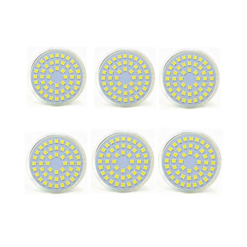 LED-gloeilamp, MR16, GU5.3, 24 V, 5 W, komt overeen met 50 W, Energy Star, 450 lm, 24 V, 6 stuks Koel wit