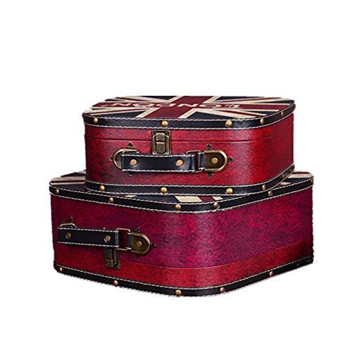 Las maletas de cartón Conjunto de 2 Memoria Caja de almacenamiento pirata...