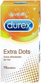 Durex Condoms, Extra Dots - 10 Count