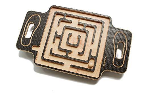tenmore.eu Labyrinth Balance Board, Wackel-Labyrinth - Geschenk für Fitness-Liebhaber, Party Labyrinth Spiel für Zuhause Physikalische Übung - Stabilitätsscheibe für Fitness Yoga Training