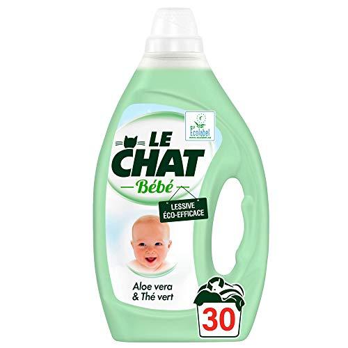 Le Chat Bébé Lessive Liquide Eco-Efficace, 30 Lavages, Vert, 1,5L