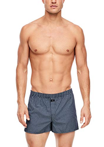 s.Oliver Herren 172.11.899.18.239.2042062 Boxershorts, Dark Blue Checks & Stripes, 8