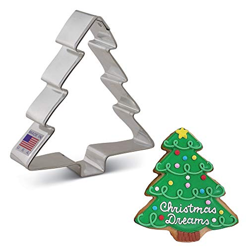 Ann Clark Cookie Cutters Christmas Tree Cookie Cutter, 4'