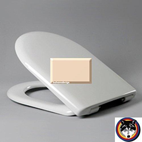 Wave SoftClose Premium WC-Sitz Bahamabeige Scharnier Klappdübel C0702G passend zu Keramag Mango und Renova Nr.1 Comprimo