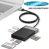 Yehua XQD/SD Lector de Tarjetas 6 IN 1 USB 3.0 XQD Card Reader, USB Adaptador Lectores de Tarjetas de Memoria Externos para SD/TF/CF/XQD Compatible con Windows XP, Vista, 7, 8, 10, Linux, Mac OS