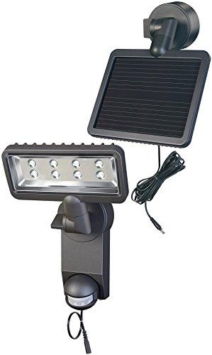 Brennenstuhl Solar LED-Strahler Premium SOL SH0805 P2 IP44 mit Infrarot-Bewegungsmelder 8xLED Anthrazit, 1179330
