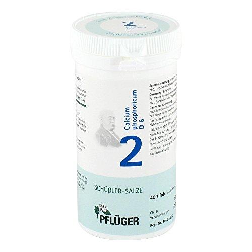 Pflüger Schüßler-Salze 2 Calcium phosphorium D6, 400 St. Tabletten