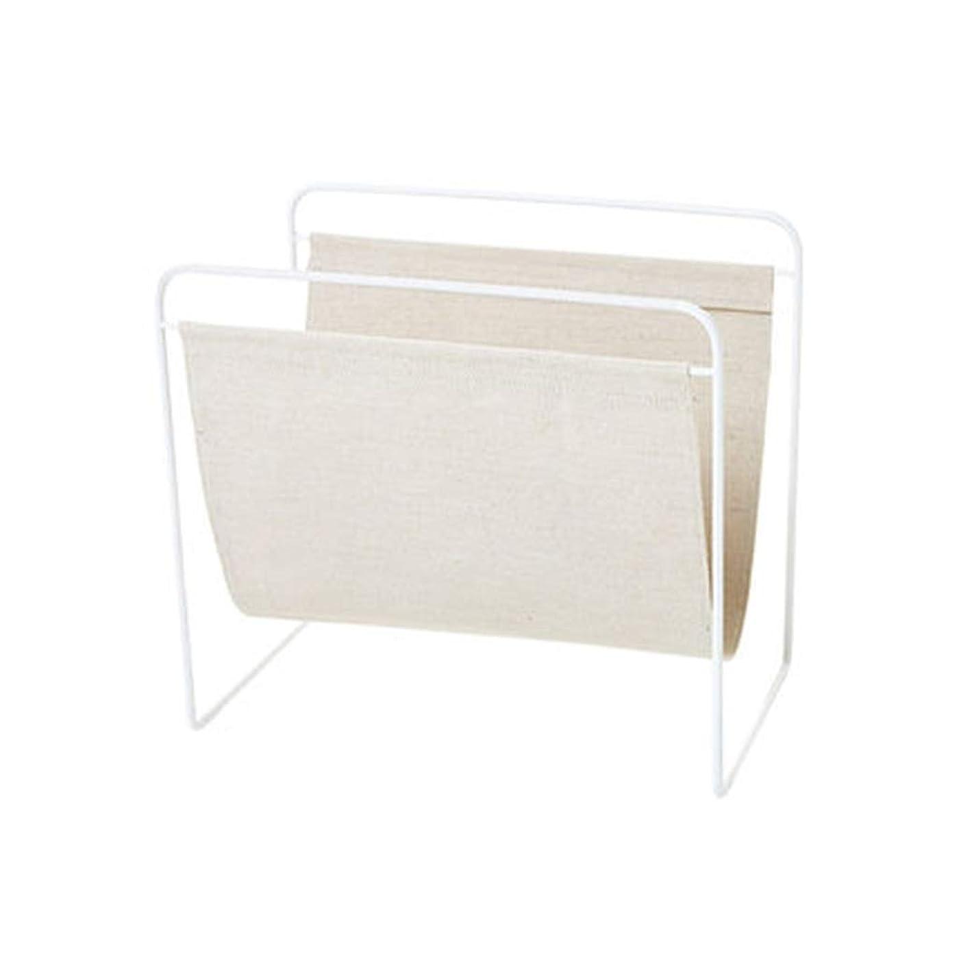 準備素子喉頭書棚 マガジンラックメタルメッシュアイアンファイルホルダーマガジンコレクション収納バーマガジンボックスメタルリネン (Color : 白, Size : 45*28*30cm)