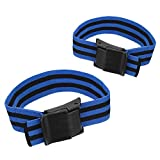 Fewear 2PCS Occlusion Training Bands | Blood Flow Restriction Bands,Comfortable Elastic Bands for Blood Flow Restriction Training and Fast Muscle Growth Without Lifting Heavy Weights (A)