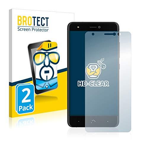 BROTECT Schutzfolie kompatibel mit BQ Aquaris X (2 Stück) klare Bildschirmschutz-Folie