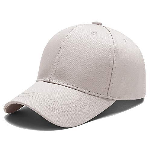 Yidarton Unisex Kappe Outdoor Baseball Cap Verstellbar Erwachsenen Mütze Casual Cool Mode Baseballmütze Hip Hop Flat Hüte (Beige)