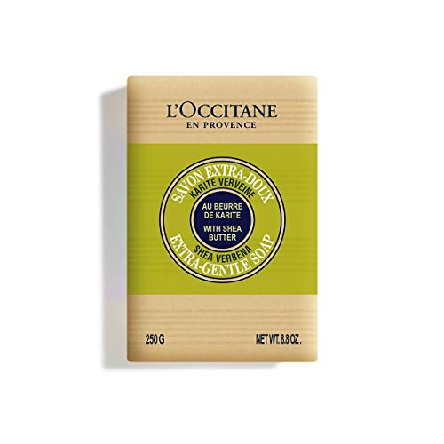 L'Occitane Extra-Gentle Vegetable Based Soap Enriched with Shea Butter - Verbena, 8.8 oz.