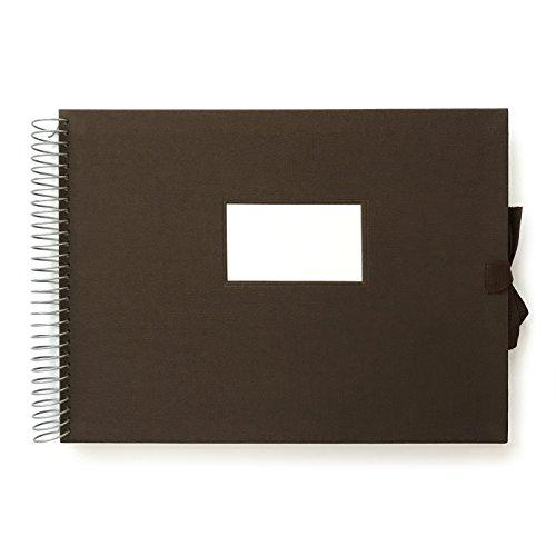 O-Check 12864 fotoalbum met stoffen omslag, vintage-stijl, L, bruin